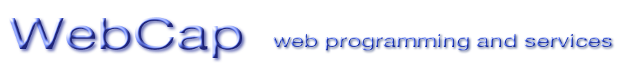 WebCap, web programming and services